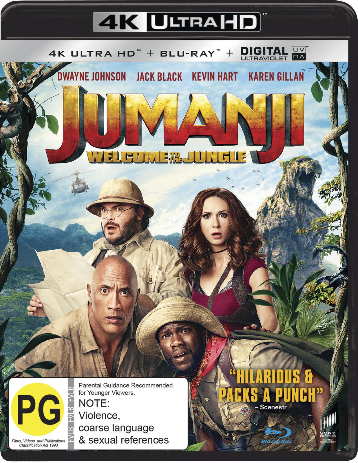 Jumanji: Welcome to the Jungle (4K UHD + Blu-ray) on UHD Blu-ray image