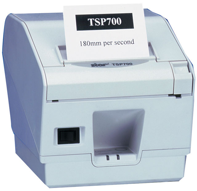 Star Micronics STAR TSP743 USB THERMAL CUTTER RECEIPT PRINTER GREY image
