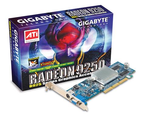 Gigabyte Graphics Card Radeon R9250 128M 64b AGP