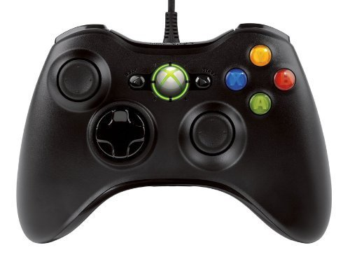 Official Microsoft Xbox 360 Wired Controller - Black for Xbox 360
