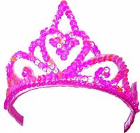 Fairy Girls - Princess Tiara (Hot Pink, age 3-8)