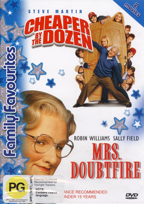 Cheaper By The Dozen & Mrs. Doubtfire (2 Disc) on DVD image