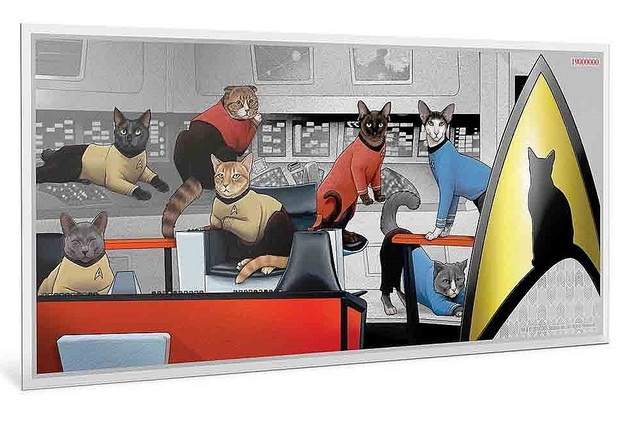 NZ Mint: Star Trek - Silver Coin Note - Cats (5g Silver)
