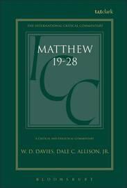 Matthew 19-28 by W.D. Davies