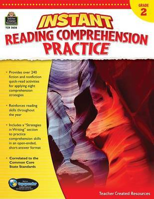 Instant Reading Comprehension Practice Grade 2 by Ruth Foster