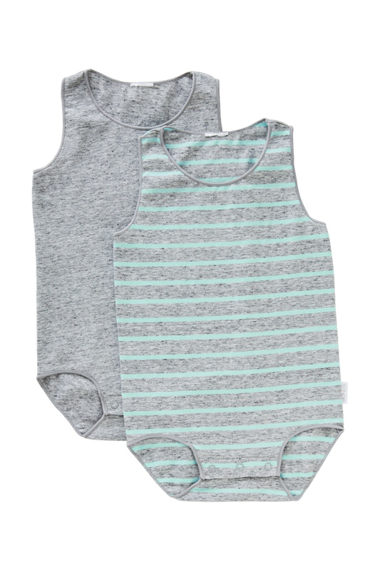 Bonds Wonderbodies Singletsuit 2 Pack - Jacuzzi/Granite Marle (12-18 Months)