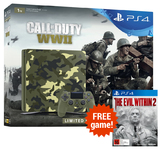 PS4 Slim 1TB COD WWII Limited Edition Console Bundle for PS4
