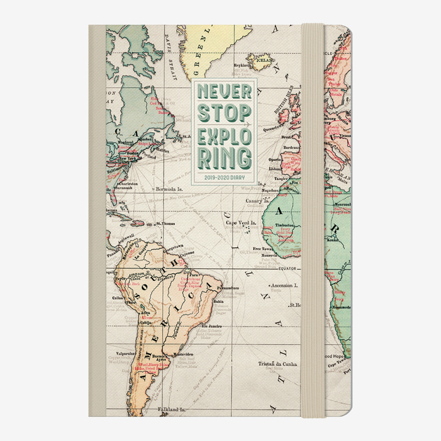 Legami: Mini Photo Weekly 12 Month 2020 Diary - Map