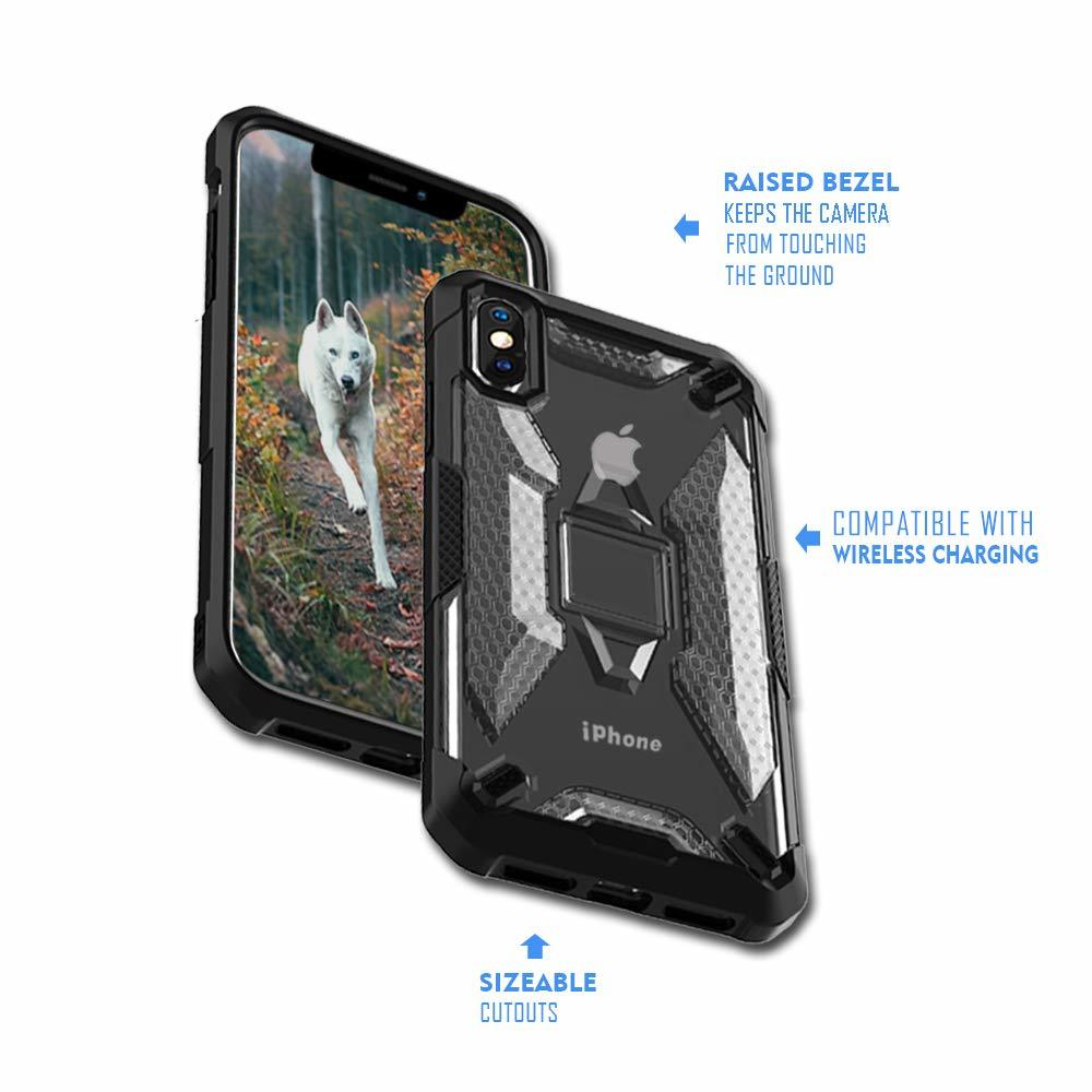 Miesherk: YY phone case for iPhone XS MAX- Grey+Black image
