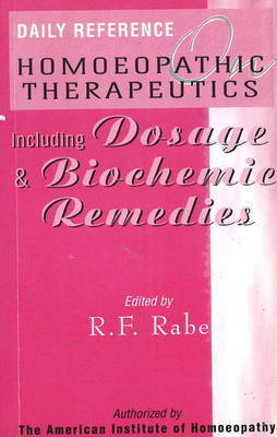 Daily Reference Homoeopathic Therapeutics