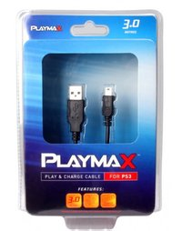 Playmax Play and Charge Cable for PS3 for