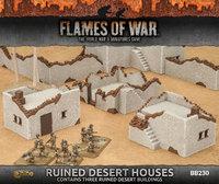 Flames of War - Ruined Desert Houses (x3)