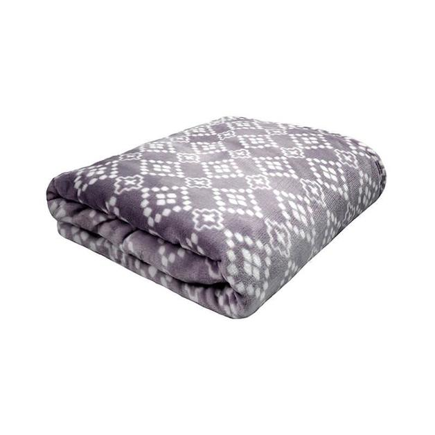 Bambury Single/Double Chiquita Ultraplush Blanket (Charcoal)
