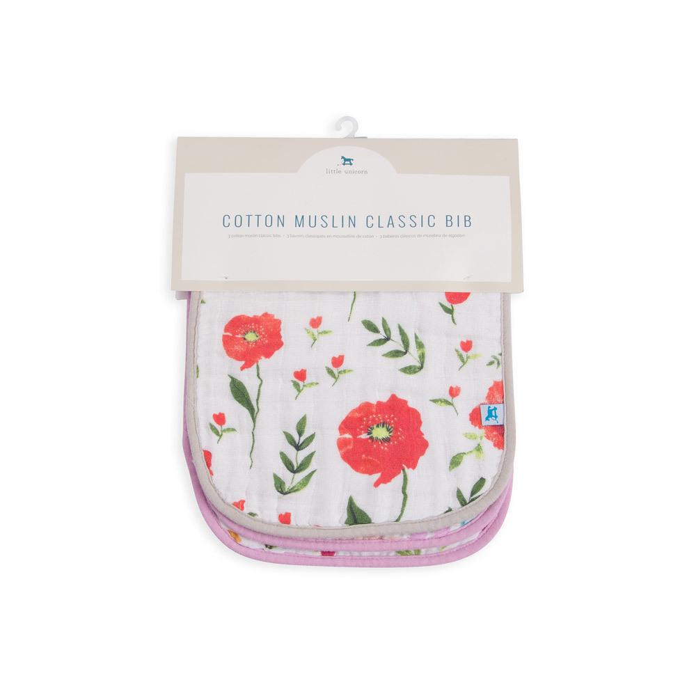 Little Unicorn - Muslin Classic Bib - Floral Medley (3 Pack) image