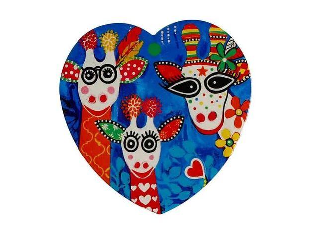 Maxwell & Williams: Love Hearts Ceramic Heart Coaster - Mr Gee Fam (10cm)
