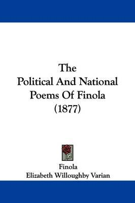 The Political and National Poems of Finola (1877) by Elizabeth Willoughby Varian image