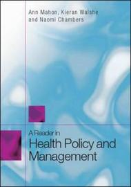 A Reader in Health Policy and Management by Ann Mahon image