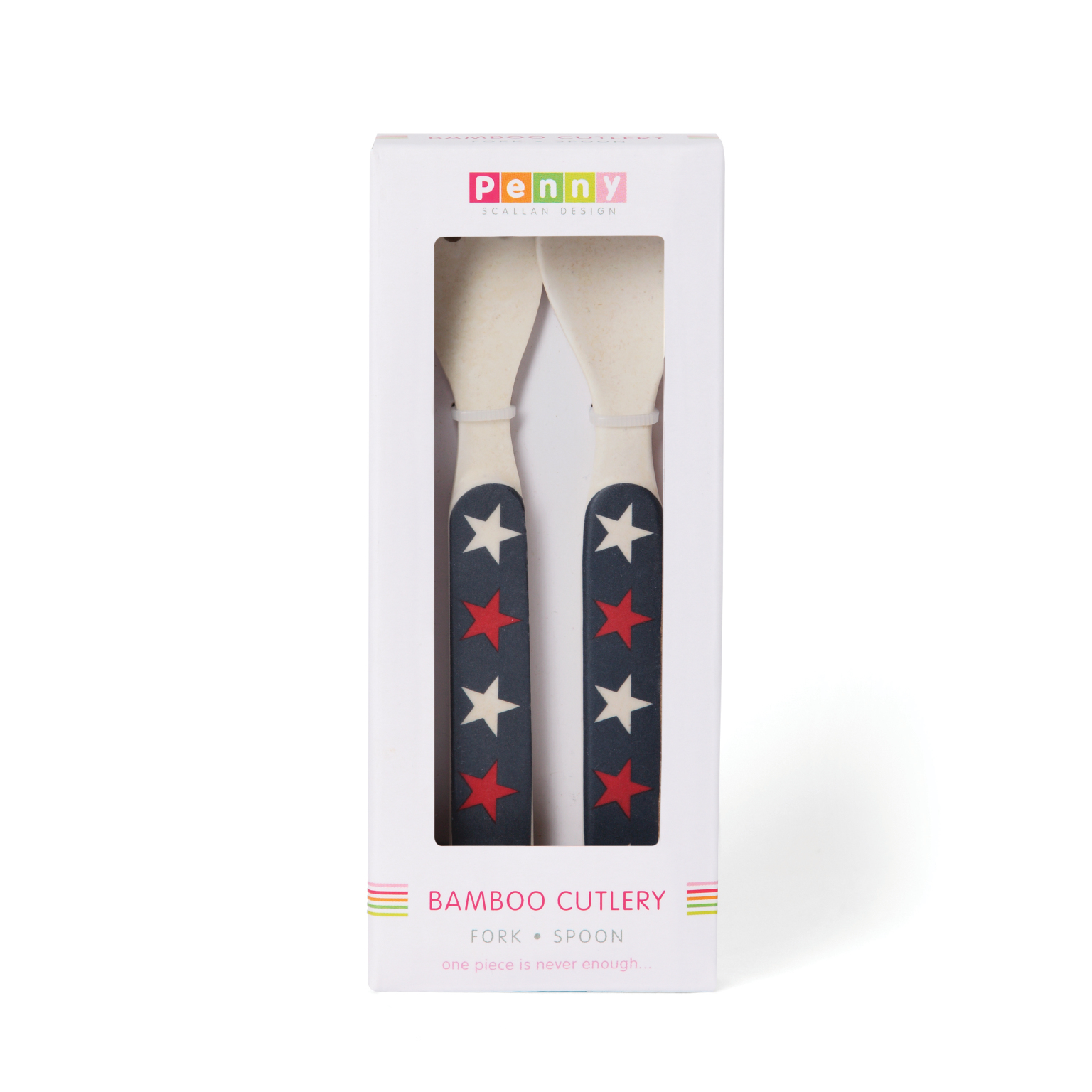 Navy Star Bamboo Meal Set with Cutlery image