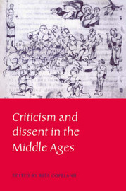 Criticism and Dissent in the Middle Ages image