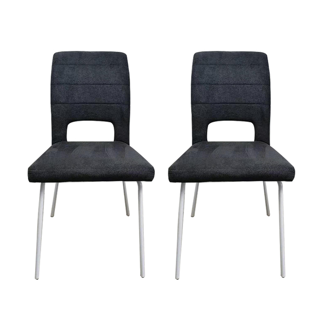 Modern Fabric Dining Chair Set of 2 - Charcoal