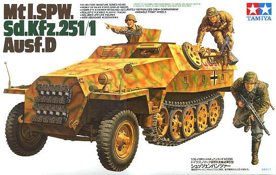 Tamiya German Mtl SPW Sd.Kfz 251/1 Ausf D Half Track 1/35 Model Kit