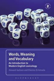 Words, Meaning and Vocabulary by Howard Jackson image