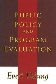 Public Policy and Program Evaluation by Evert Vedung image