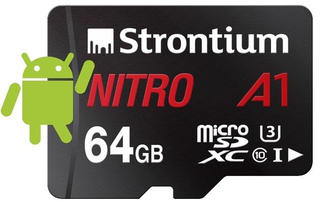 Strontium Nitro A1 Micro SD Card with Adaptor - 64GB