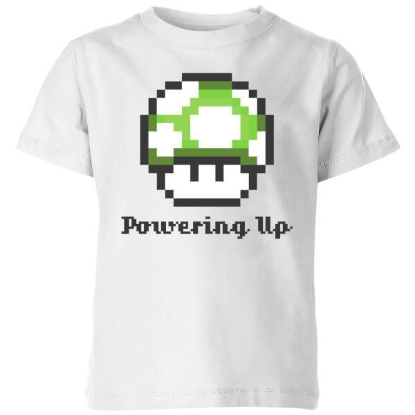 Nintendo Super Mario Powering Up T-Shirt Kids' T-Shirt - White - 9-10 Years image