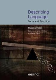 Describing Language by Ruqaiya Hasan