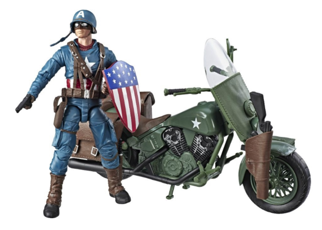 "Marvel Legends: Captain America Motorcycle - 6"" Vehicle Playset"