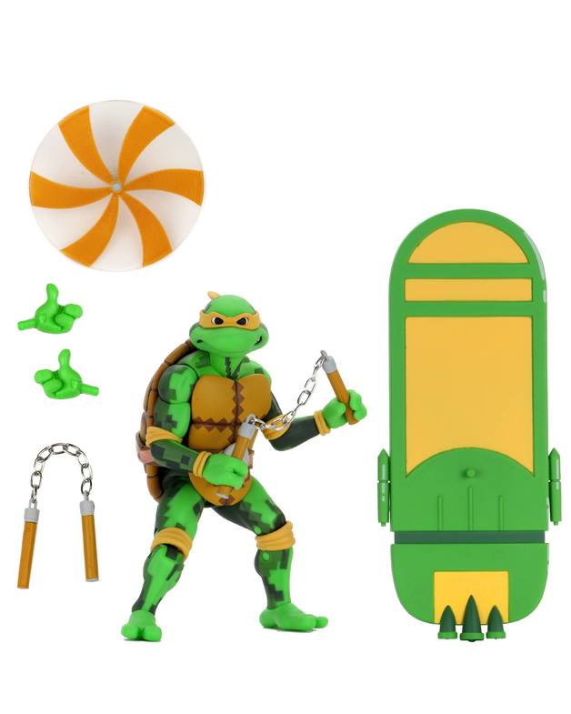 "TMNT: Turtles In Time - Michelangelo 7"" Action Figure"