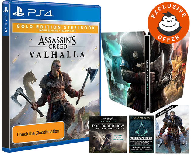 Assassin's Creed Valhalla Gold SteelBook Edition for PS4