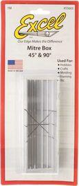 Excel Aluminium Mitre Box (45 and 90 degree)