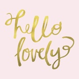 Hello Lovely Glass Coasters - Set of 4