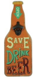 MPH: Bottle Opener Wall Plaque - Save Water