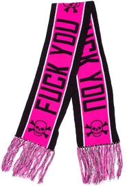 Sourpuss: Sourpuss: F##k You Knit Scarf (Pink)