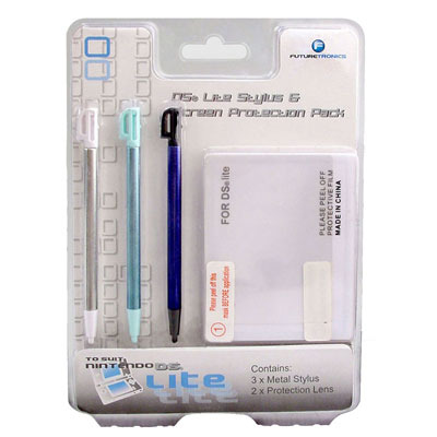 Futuretronics Lite Stylus & Screen Protection Pack for Nintendo DS