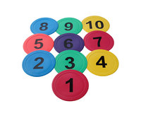 Numbered Flat Marker Discs (10 Pack)