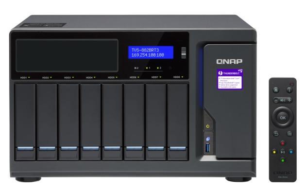 QNAP TVS-882BRT3-I7, 8BAY NAS(NO DISK),32G,I7-7700,ODD(0/1),GbE(4),M.2(2),T3(4),TWR,2YR