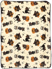 Sourpuss: Black Cats Blanket
