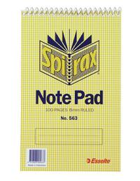 Spirax 563 Reporters Notepad