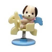 Sylvanian Families Baby Carry Case: Dog on Spring Horse