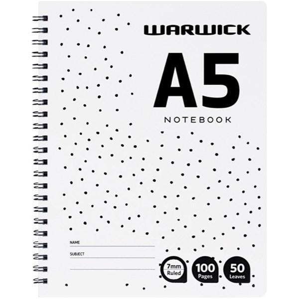 Warwick A5 50lf Ruled A4 Notebook