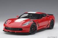 AUTOart: 1/18 Chevrolet Corvette Grand Sport (Red/white) - Diecast Model