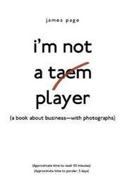I'm Not a Taem Player by James Page image