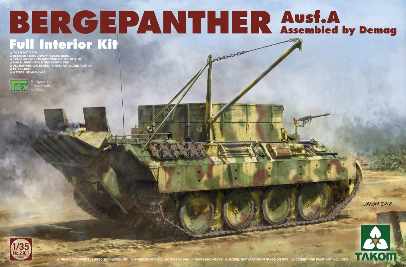 Takom: 1/35 Bergepanther Ausf. A Assembled by Demag Model Kit image