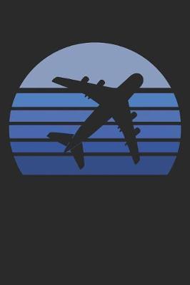 Retro Blue Airplane Silhouette by Nickolas D Publishing