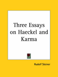 Three Essays on Haeckel by Rudolf Steiner image