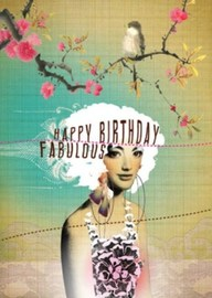 Papaya Birthday Card - Happy Birthday Fabulous